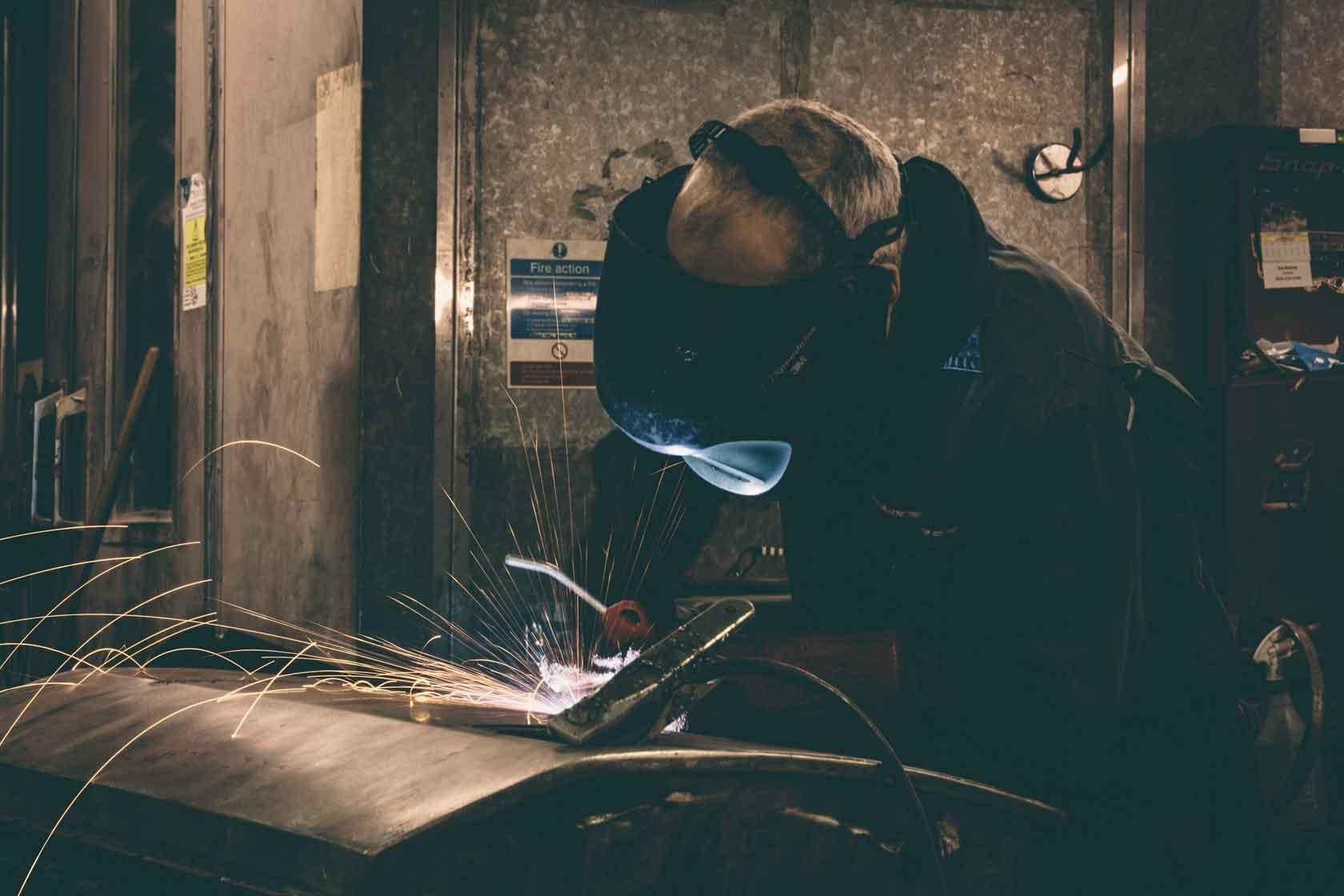 Jensen metal work bodywork restoration