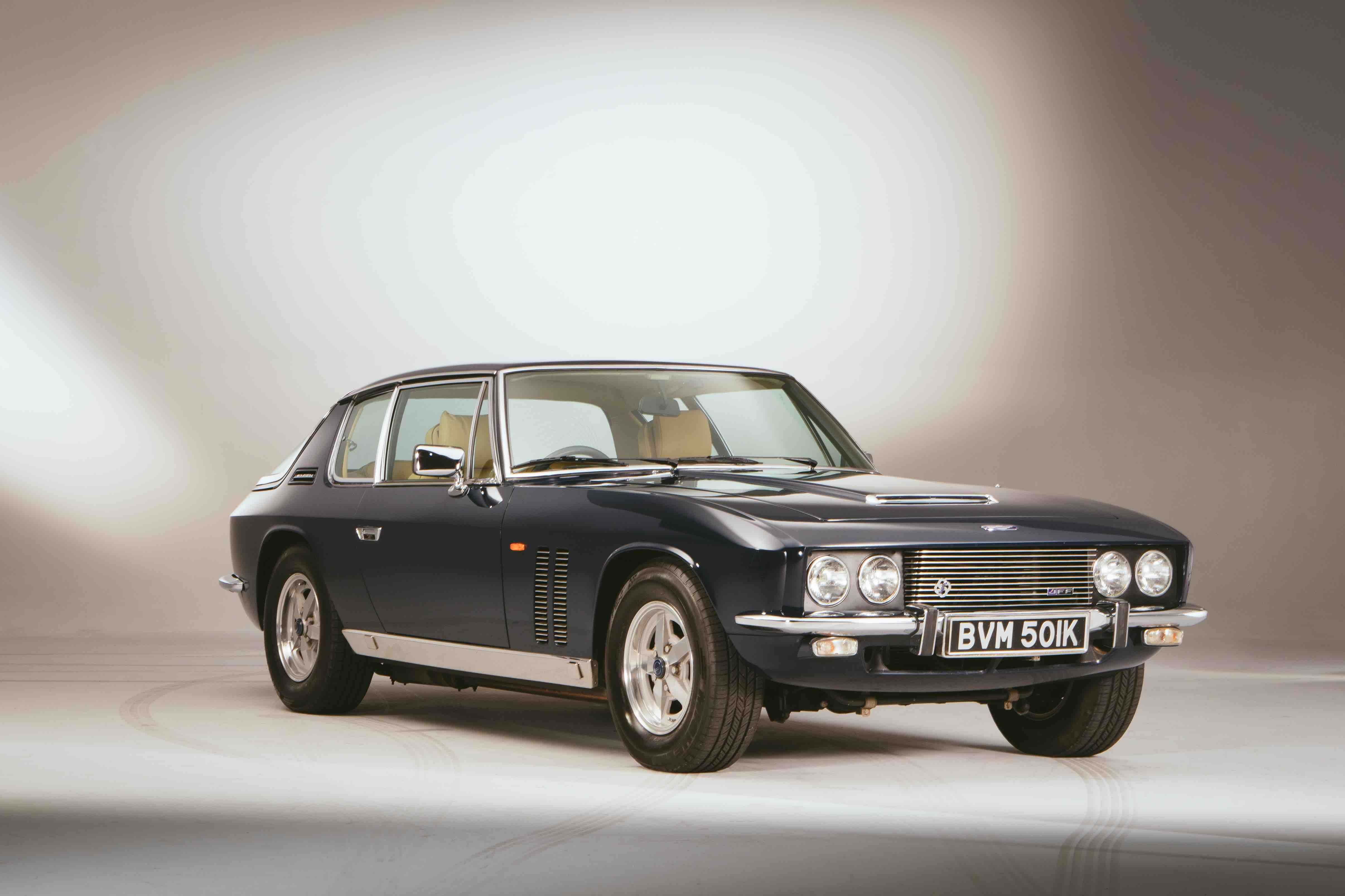 blue jensen interceptor shot in a studio